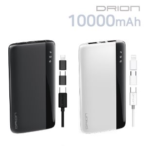 보조배터리 10000mAh(5PIN Cable + C-TYPE & 8 PIN Gender)DR-P-C10000